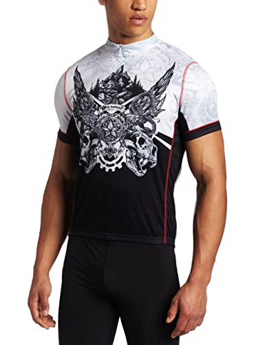 primal wear kodiak black and white tattoo cycling jersey