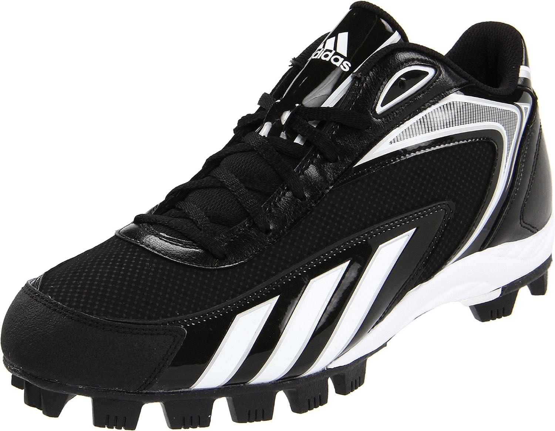 adidas Men's Hotstreak Mid Baseball Cleat,Black/Running ...