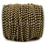 CleverDelights Ball Chain Spool - 30 Feet - 3.2mm Ball (#6 Size) - Antique Bronze Color - 10 Meters (Color: Bronze, Tamaño: 3.2mm)