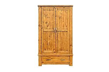 Furniture 24/7 Elcombe Wardrobe, Wood, Brown