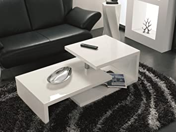 Haku Möbel 86303 Table Basse Blanc