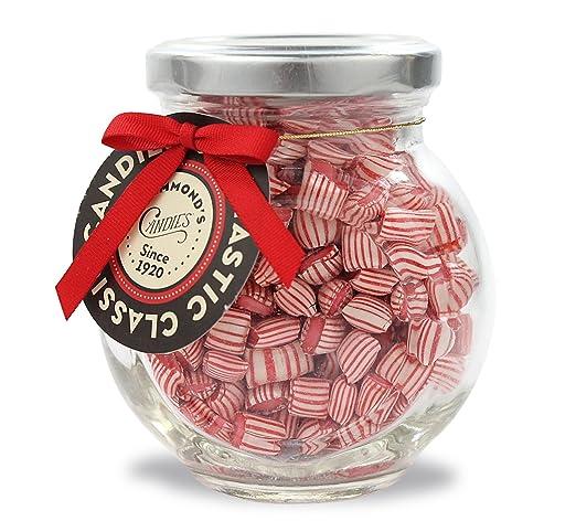 Peppermint, Candy Pillows 4 oz Gift Jar Hammonds Handmade