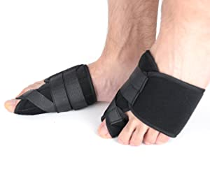 Dr.Koyama 2 Sets Rapid Bunion Pain Treatment Night Time Bunion Orthopedic Splints?? Corrector Toe Spacer Hallux Valgus Bunion Pads