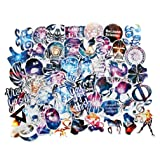 Car Stickers Pack 100pcs FNGEEN Harajuku Galaxy Laptop Stickers Bomb Motorcycle Bicycle Luggage Decal Graffiti Patches Skateboard Stickers for Laptop (100pcs) (Tamaño: 100pcs)