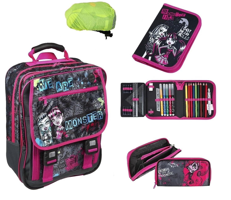 Monster High großes Schulrucksack Set 5-tlg. MHCP8300 + Federmappe gefüllt + Geldbeutel + Regen-/Sicherheitshülle online kaufen