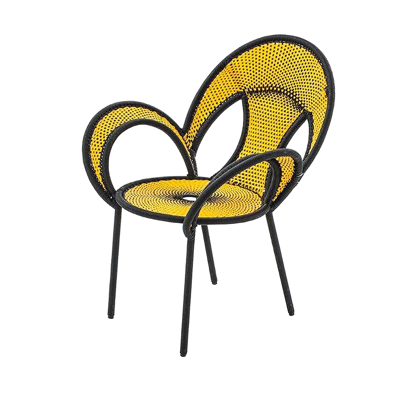 Banjooli Armlehnstuhl gelb/schwarz günstig bestellen