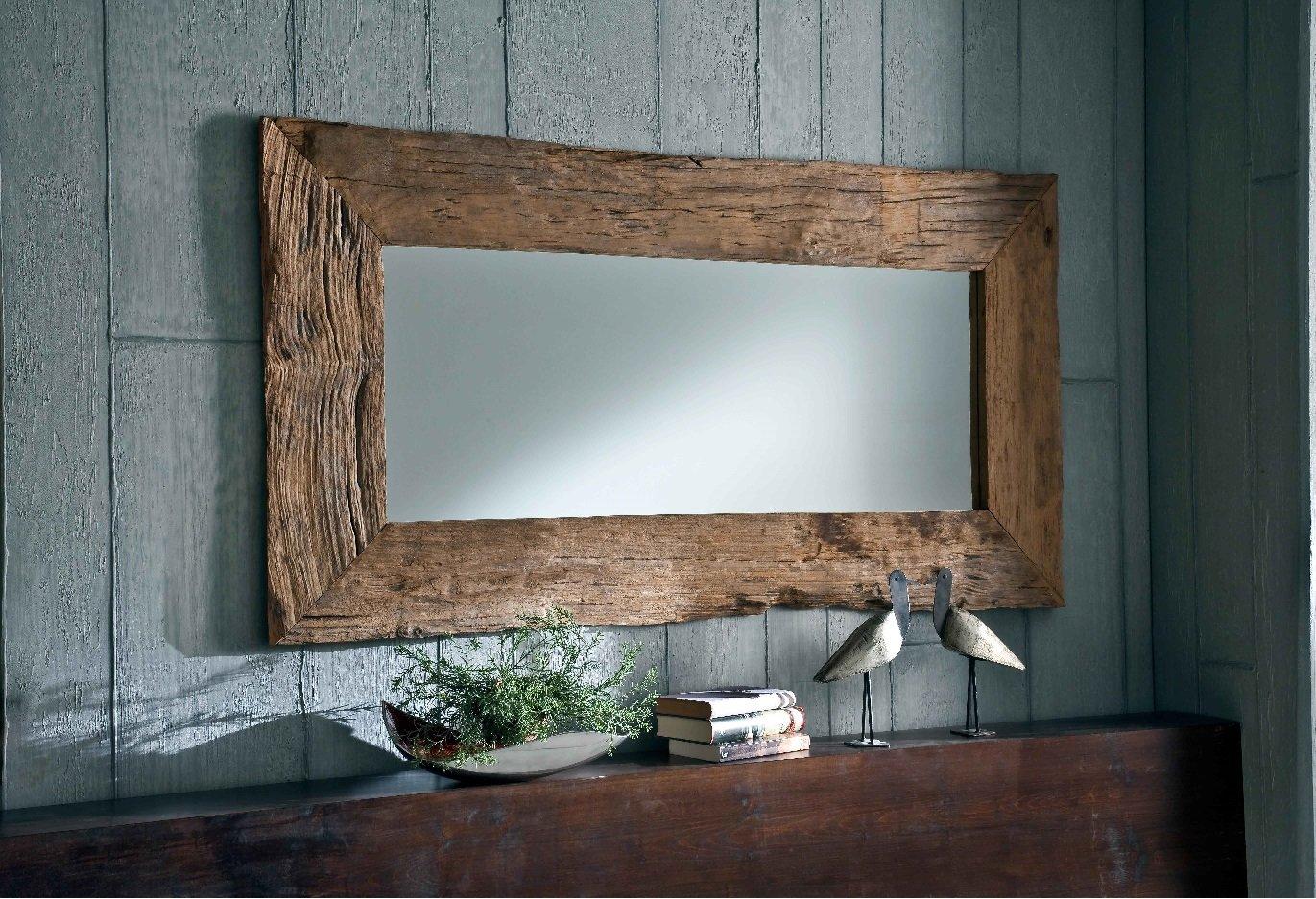 NATUR UNIKAT Wandspiegel massiv Teak Holz Spiegel Altholz edel 150cm Antik Style  Kundenbewertung und weitere Informationen