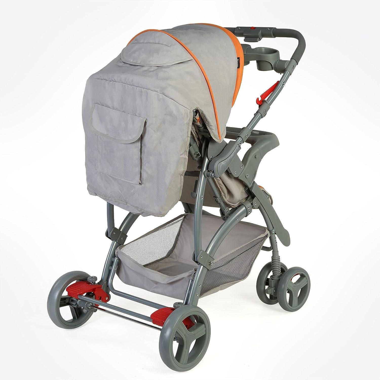 Sports Baby Stroller T281 - Grey/Orange