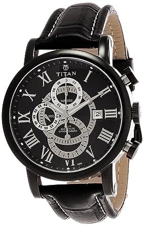 buy titan classique chronograph black dial men s watch titan classique chronograph black dial men s watch ne9234nl01j