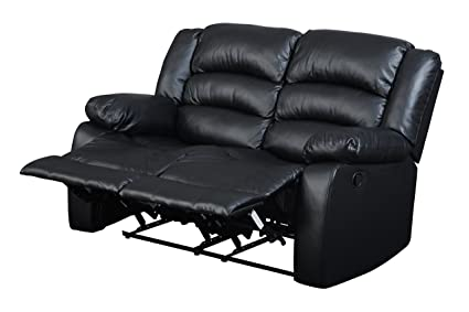 Glory Furniture G943-RL Reclining Loveseat, Black