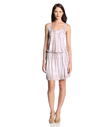 Joie Women's Katsina Chevron Jersey Sleeveless Dress, Antique White/Ash Grey, Large