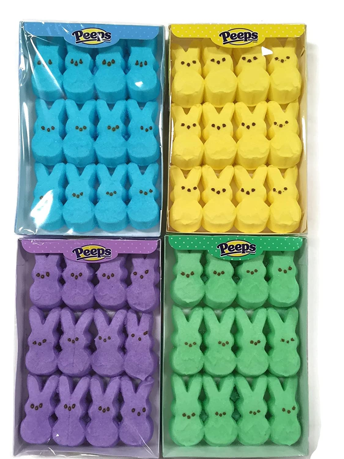 Easter Marshmallow Peeps Bunnies Variety Pack 4 Count