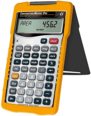 Calculated Industries 4065 Construction Master Pro Advanced Construction Math Feet-inch-Fraction Calculator for Contractors, Estimators, Builders, Framers, Remodelers, Renovators and Carpenters (Tamaño: 1 Pack)