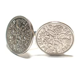 1964 Original Lucky Sixpence Cufflinks