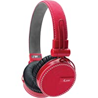 iLuv ReF ROCKefeller On-Ear Smartphone Headphones (Red)