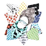 12- Pack Baby Bandana Drool Bibs for Drooling and Teething By Daulia, Unisex super absorbent Organic Cotton, Cute Baby Gift for Boys & Girls, Toddler Baby Shower gift set (Color: Unisex, Tamaño: 0-36 months)