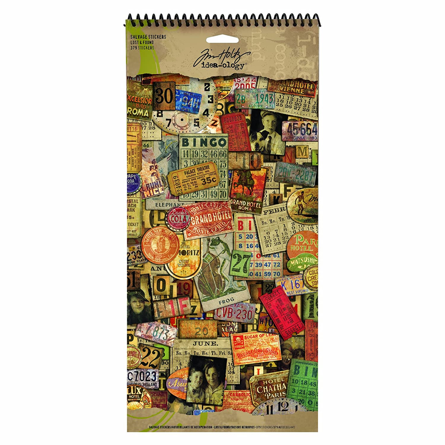 Lost and Found Salvage Stickers by Tim Holtz Idea-ology, 379 Stickers, Paper, Multicolored, TH92870