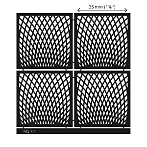 LUCY CLAY Microstencils Texture Sheets for Polymer Clay 3.12 x 3.12 5-pcs Set (Microstencils Set 7) (Color: Microstencils SET 7)