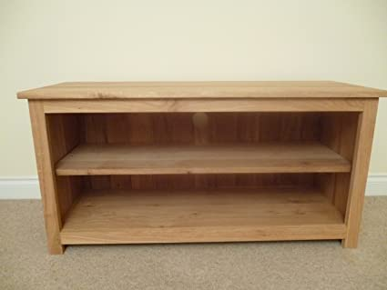 Oak TV unit, stand or cabinet, 1000x550mm 1 adjustable shelf, ideal for the living room or lounge