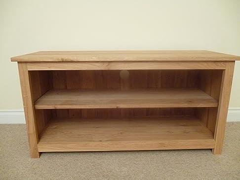 Mobiletto TV in legno di quercia e giochi, supporto o un mobile, 1300 x 550 mm, con 1 mensola, ideale per il soggiorno o pigiama
