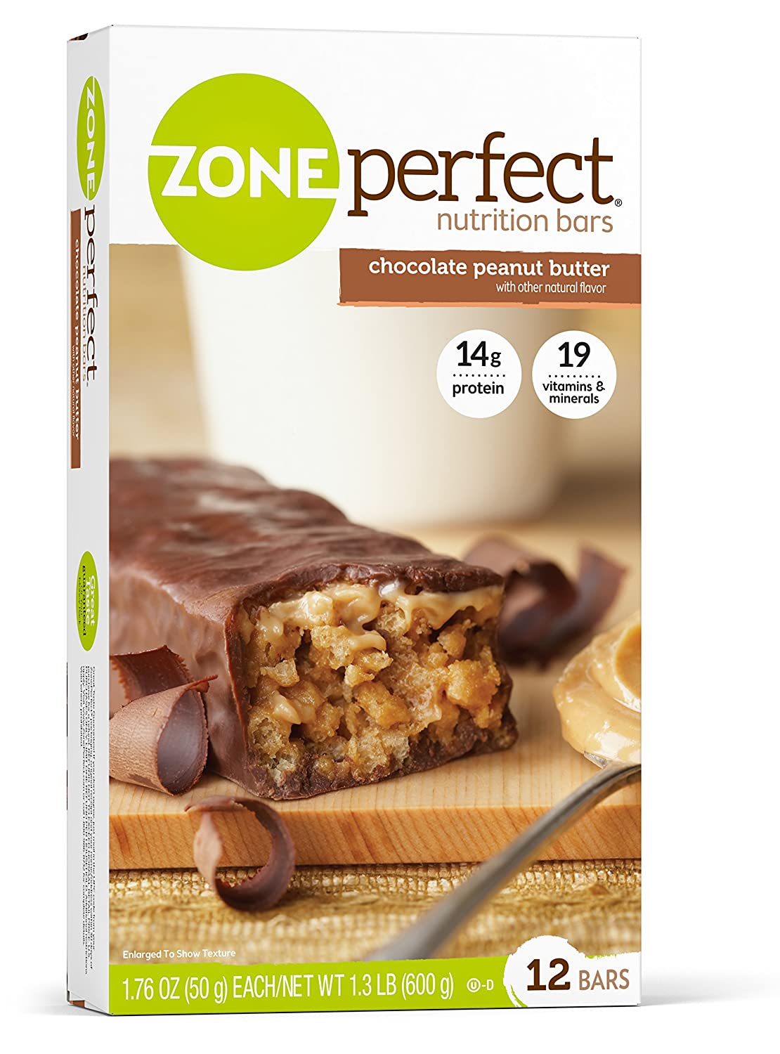 Zone Perfect Nutrition Bar, Chocolate Peanut Butter,1.76oz-12 Count