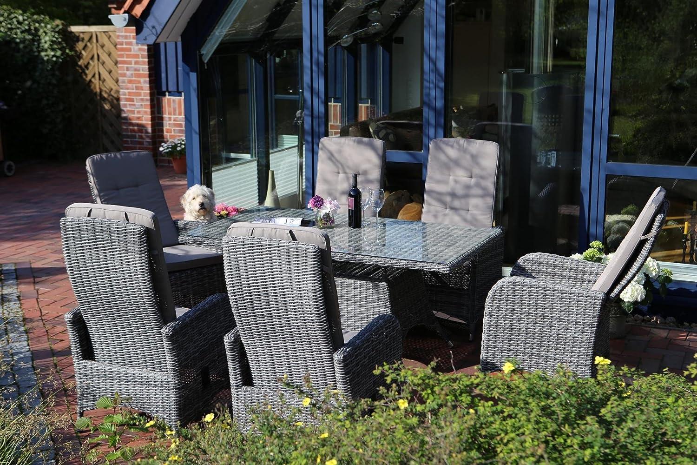 Destiny Sitzgruppe Bahia Pamplona Dining Polyrattan Gartenmöbelset Garnitur Möbelset