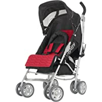 Obaby Aura Deluxe Silver Stroller (Red)