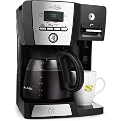 Mr. Coffee 12-Cup Coffeemaker with Hot Water Dispenser, 16-Ounce (Black/Chrome)