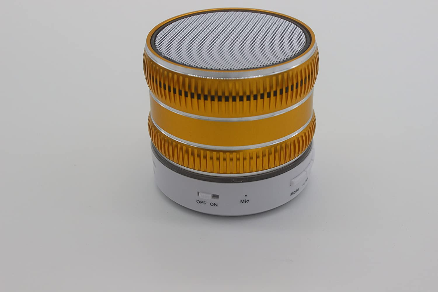 (2015 New Arrival)high Quality Mini Lightweight Portable Premium Sound Wireless Bluetooth Speaker with Rechargeable Battery - Enhanced Bass, Support Micro Tf Card with LED Light(S71U-Yellow led dancing water mega bass bluetooth speaker with aux in tf card port grey