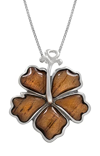 This wooden hibiscus flower necklace makes a really gorgeous 5th wedding anniversary gift!