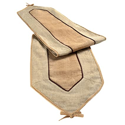 Linen and Burlap Table Runner by Grasslands Road