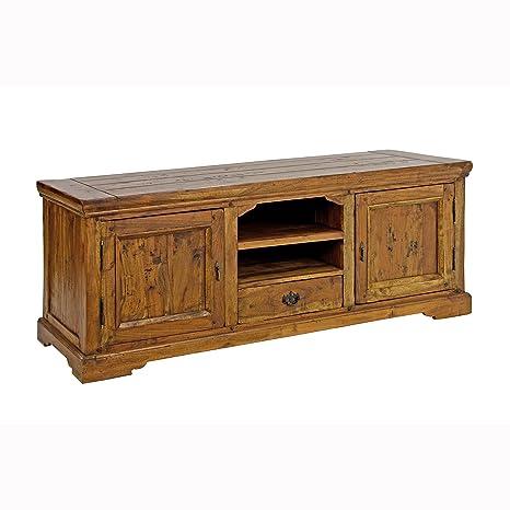 BIZZOTTO-Soporte para televisores de dos puertas un cajón 742736 L160h60p50cm dacacia madera maciza