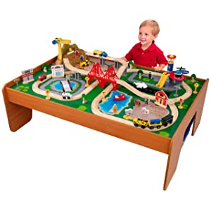 KidKraft Ride Around  sc 1 st  KidsToysGO.com & Top 10 Best Wooden Train Tables and Sets for Kids of 2018
