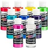 Iridescent 8 Createx Airbrush Paint Colors Set 2 Oz Bottles (Tamaño: Createx 8-Color Iridescent Set)