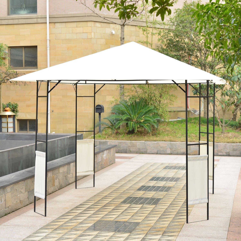 Outsunny Modern 10' x 10' Outdoor Canopy Cover Gazebo - Cream at Sears.com