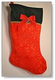 Dog Christmas Stocking Red & Green