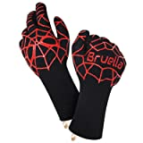 Bruella™ Heat Resistant Gloves ? Great For Oven Baking & Cooking In The Kitchen | A+ Military Grade Kevlar - EXTRA Length Forearm Protection - ?LIFETIME WARRANTY? (Color: Black, Tamaño: Men's Medium)