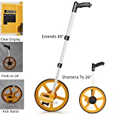 Scuddles Collapsible Measuring Wheel Measures Up To 10,000 Feet Perfect surveying Tool For Distance Measurment (Telescoping) (Color: Telescoping Handle)