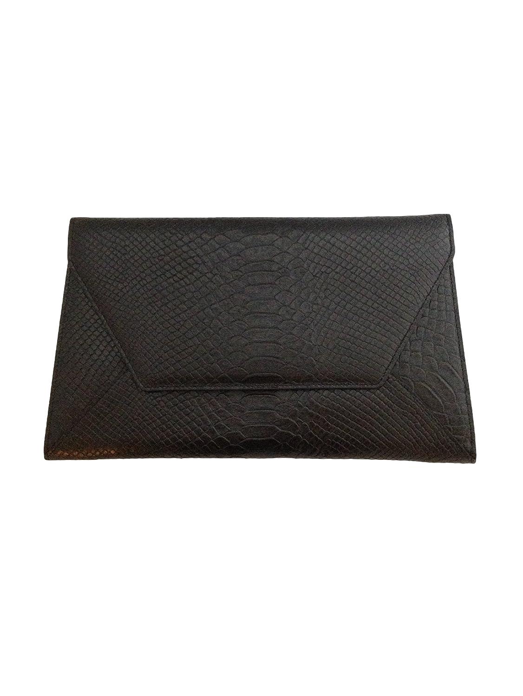 Amazon.co.jp: 本革 クロコ 型押し クラッチバッグ ショルダー 2way レディース 結婚式 収納袋付 (ブラック): Amazonファッション