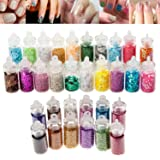 High Quality Professional Nail Art Set of Glitters, Caviar / Beads / Mini Pearls And Sparkles Decorations By VAGA