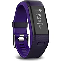 Garmin Vivosmart HR+ Regular GPS Fitness Activity Tracker (Purple)