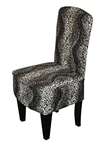 BEDROOM CHAIR Snow Leopard print fabric       review and more information