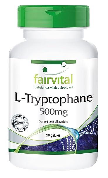 L-Tryptophane 500mg par gélule - 90 gélules - acide aminé - sommeil réparateur