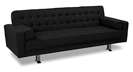 Westport Home Rayna Contemporary Sofa Bed, Black