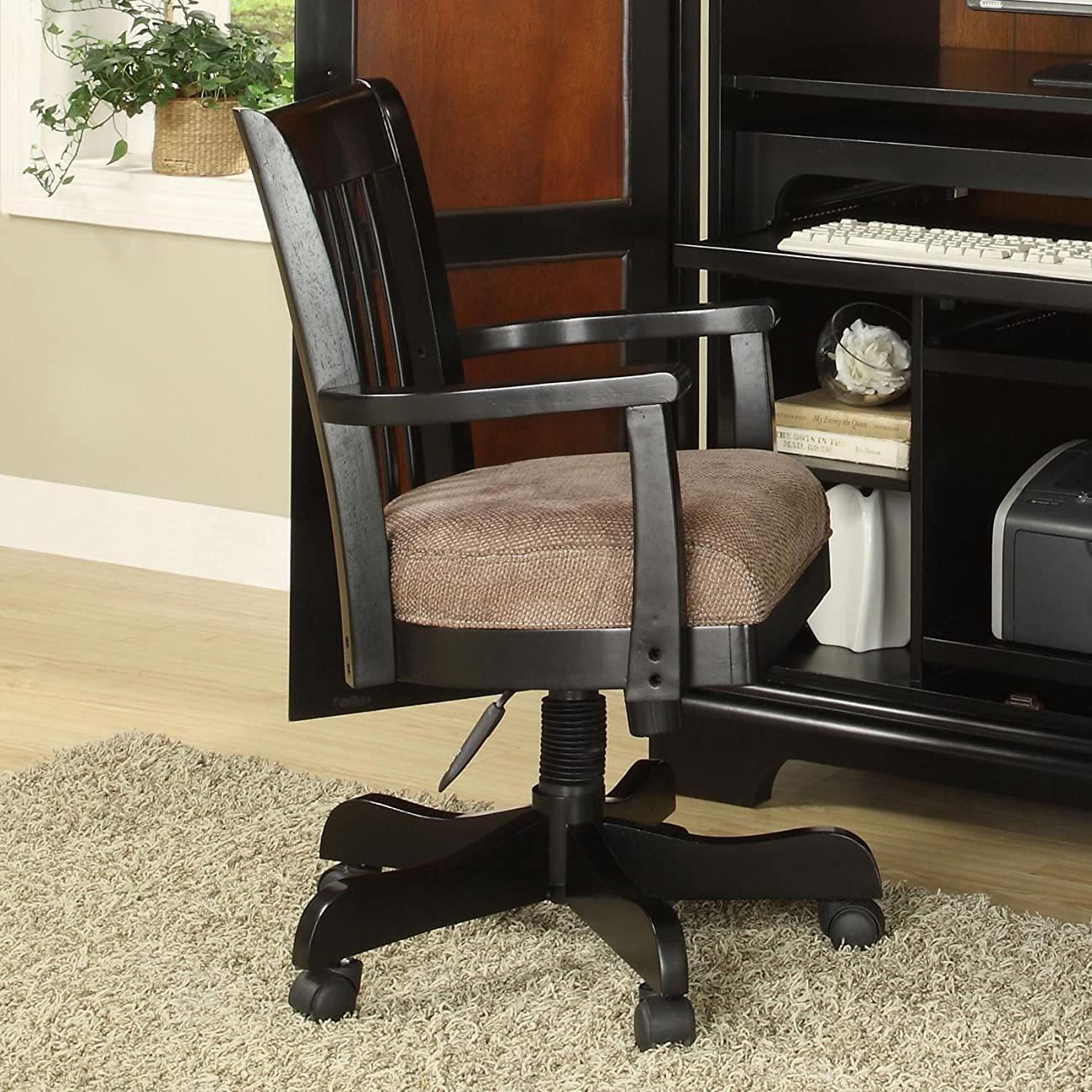 Bridgeport Desk Chair in Antique Black Finish 1