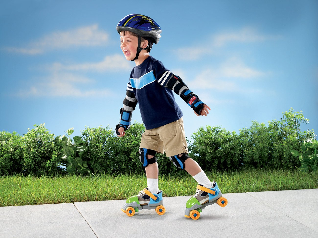 Fisher-Price Grow-with-Me 1,2,3 Roller Skates , New, Free ...