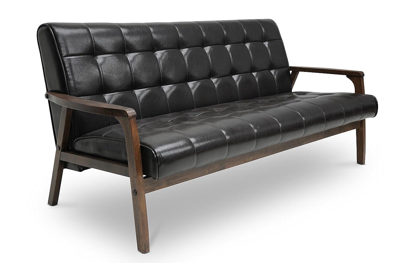 Baxton Studio Mid-Century Masterpieces Sofa, Brown 2