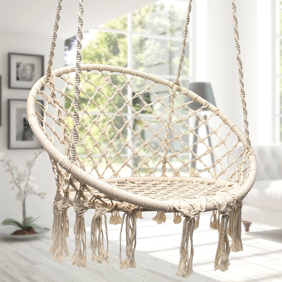 Sorbus Hammock Chair Macrame Swing, 265 Pound 