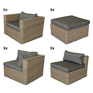 lounge gartengarnitur gartenm bel minnesota sitzgruppe sitzgarnitur sitzlandschaft polyrattan. Black Bedroom Furniture Sets. Home Design Ideas