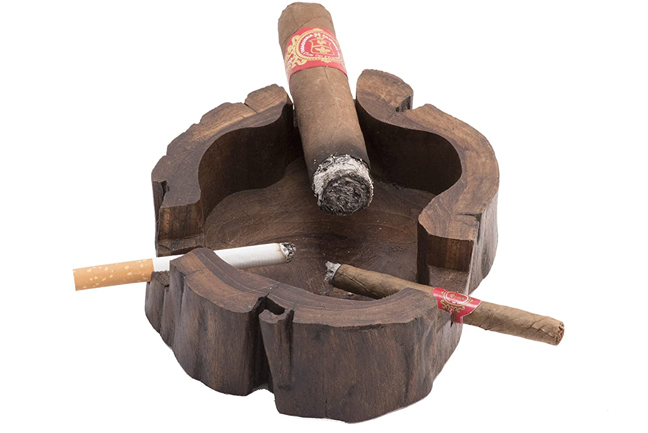 Unique Handmade Wooden Vintage Cuban Cigar Ashtray Personal Custom Antique Decorative Indoor Outdoor 1